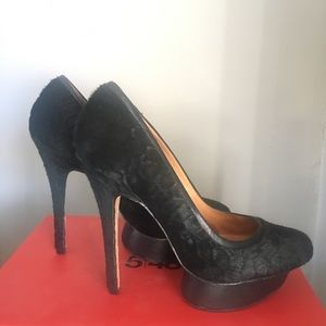 L.A.M.B stiletto heels with floating platform